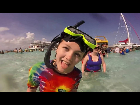 Stingray City Sandbar & Rum Point Beach in Grand Cayman - Carnival Magic Cruise April 2015