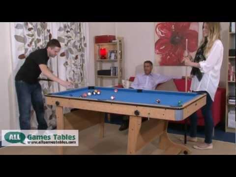 BCE Folding Leg Pool Table FP YouTube - Fold up pool table full size