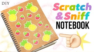 DIY Scratch and Sniff Notebook - Make Scented School Supplies!!