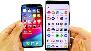 iOS 12 vs Android 9 Pie Speed Test!