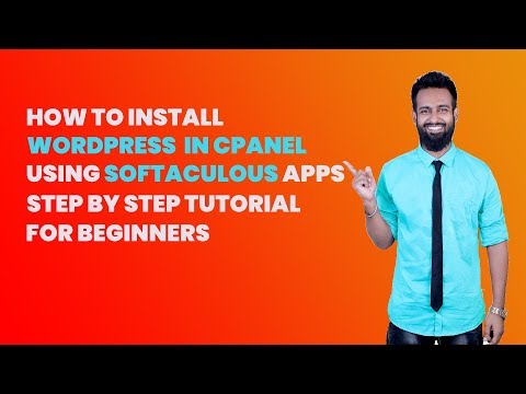How to install WordPress in Cpanel using Softaculous apps installer in 2020 tutorial for beginners thumbnail