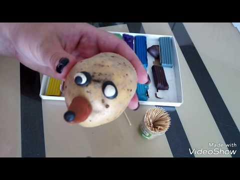 Смешные ёжики / ёжик из картошки / поделка из картошки