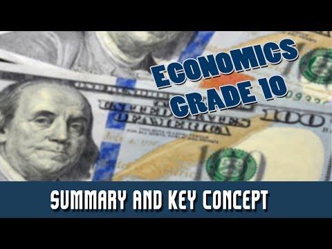 6. Economics : Summary And Key Concept  | Part 1: Introduction to Economics | Economics