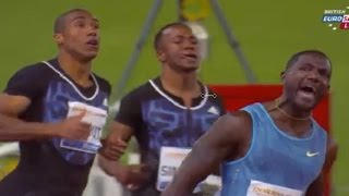2015 Diamond League Rome men 100m: Justin Gatlin blazes 9.75 new meet record
