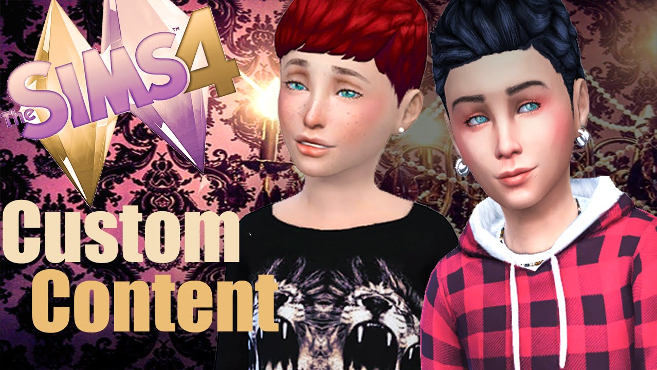 The Sims 4 Custom Content Kids Youtube