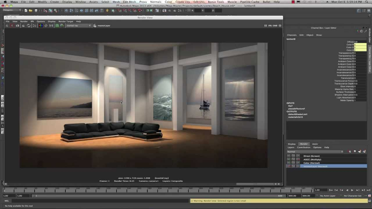 Maya 2013 Render Layers Tutorial By Stuart Christensen