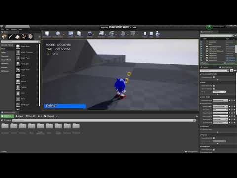 Classic Sonic 3D Gameplay Special Zone From Sonic Mars In Unreal Engine 4(Please Read Description).