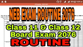 Neb grade 11 exam routine 2076
