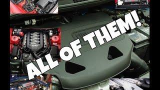all engines comparison i2 i3 i4 v4 boxer 4 v5 i5 v6 i6 flat 6 v8 v10 v12 500 subs special