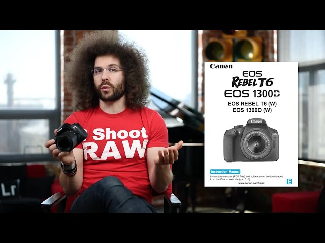 Canon Rebel T6 (EOS 1300D) Tutorial User's Guide (video