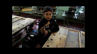 Урок трудового навчання в 5 класі (технічна праця, хлопці)