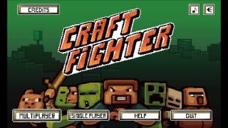 Craft Fighter!!! 2D Minecraft fighting game! playing with all characters including secret character!