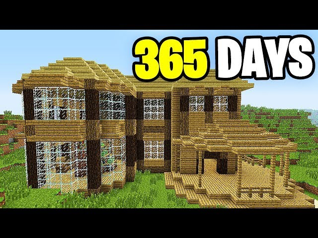 Live - Building House Minecraft 1 YEAR (World Record)