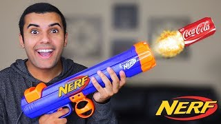 NERF COCA COLA GRENADE / ROCKET LAUNCHER MOD!!! (EXTREME NERF MOD!!) TOY MOD!! *INSANELY AWESOME*