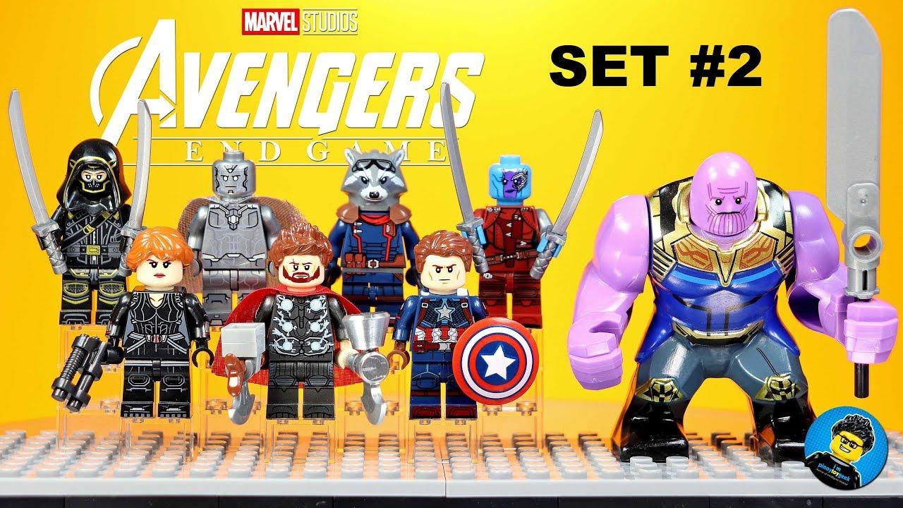 Rare Custom LeGo Big Figures Venom Thanos HULK IRON MAN MARVEL MOC New Thanos