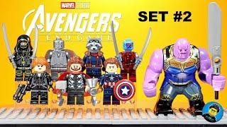 LEGO Avengers Endgame Unofficial Minifigures Set 2 w/ Thanos Captain America Guardians of the Galaxy
