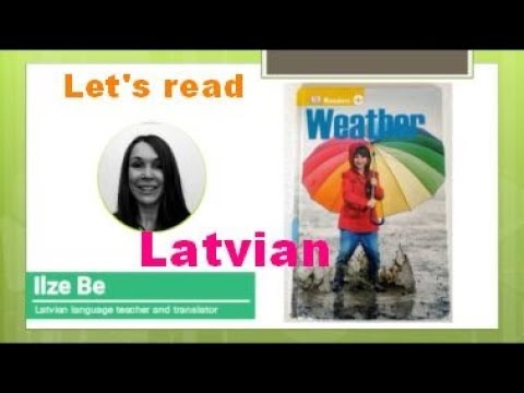 Practice Reading in Latvian about weather