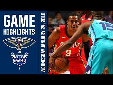 2d480ef28 New Orleans Pelicans Highlights vs. Charlotte Hornets - 1 24 18