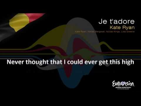 "Kate Ryan - ""Je T'adore"" (Belgium) - [Karaoke version]"