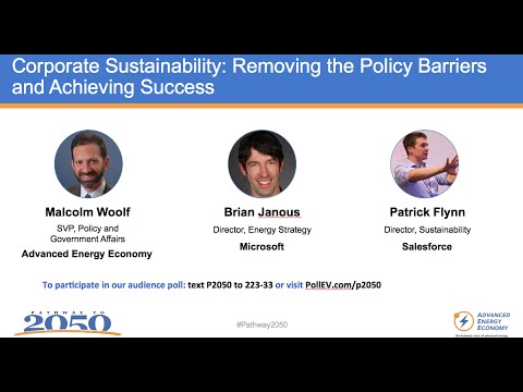 Corporate Sustainability & Advanced Energy - Pathway to 2050