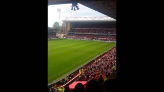 Pitch invasion Nottingham forest vs derby county