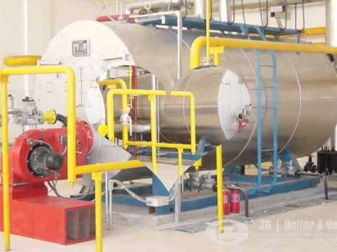 Industrial 10 ton 20 ton water tube oil gas fired steam boiler - YouTube