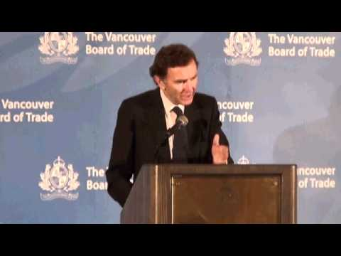 Lord Green addresses The Vancouver Board of Trade