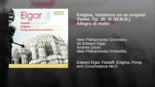 Enigma, Variations on an original theme, Op. 36: IV (W.M.B.) Allegro di molto