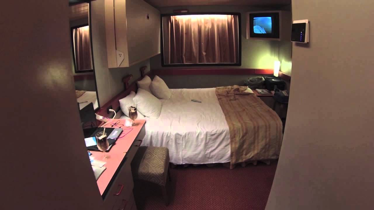 Carnival elation may 2015 view of our room e232 youtube for Picture room