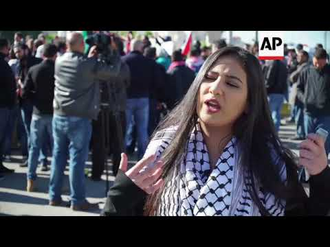 AP Jordan - Amman protest against Trump's move on Jerusalem 08/12/2017