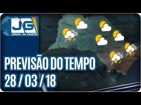 Previsão do Tempo - 28/03/2018