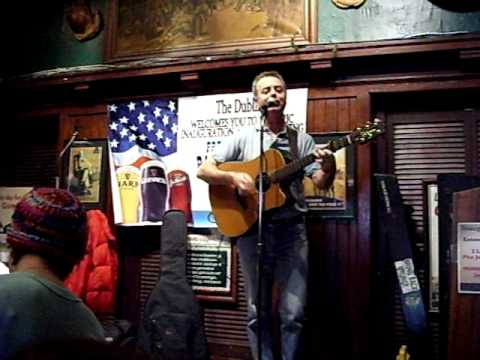 "John McGrath sings ""No One More Irish Than Barack Obama"" at Dubliner in DC Inauguration Day"