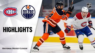 NHL Highlights | Canadiens @ Oilers 1/18/21