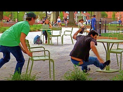 Chair Pulling Prank Part 14