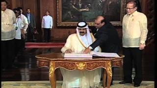 Courtesy Call of Qatar's Emir to President Aquino 4/10/2012