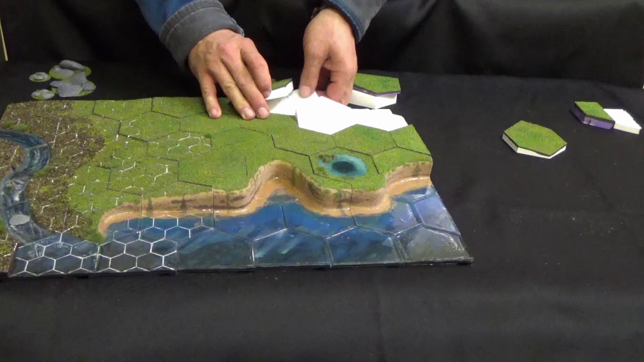 graphic relating to 3d Printable Terrain named HexT, 3D Printable modular terrain method.