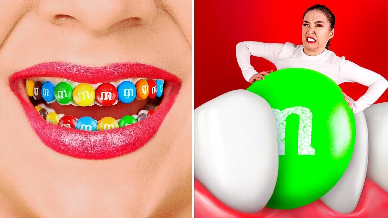 치과에서 간식을 숨기는 법    123 GO! SCHOOL의 재미있는 음식 숨기기 아이디어