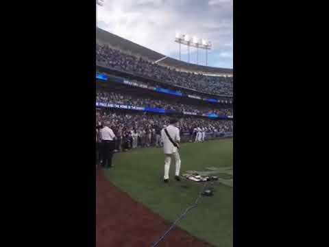 Miyavi 20190725 Performs National Anthem At Dodger Stadium