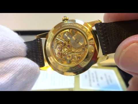 Vintage Universal Geneve 18k gold skeleton watch