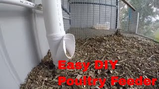 Chicken Feeder made out of PVC Pipe