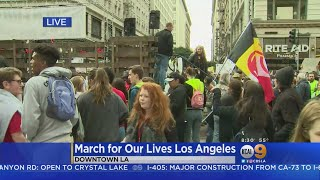 Thousands Gathering In Downtown LA For March For Our Lives