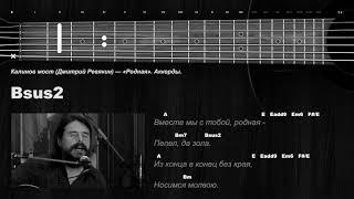 Калинов мост (Дмитрий Ревякин) — «Родная». Аккорды