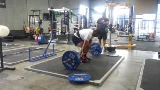 Allen Ozdil pulls 220kg x 3 PTC