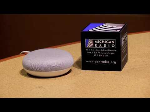 To listen to Michigan Radio on Google Home
