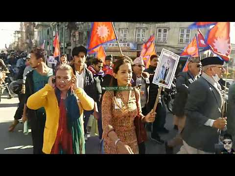 #NATIONALISTS NEPALESE PEOPLE'S DEMANDING RESTORATION OF THE  MONARCHY IN NEPAL