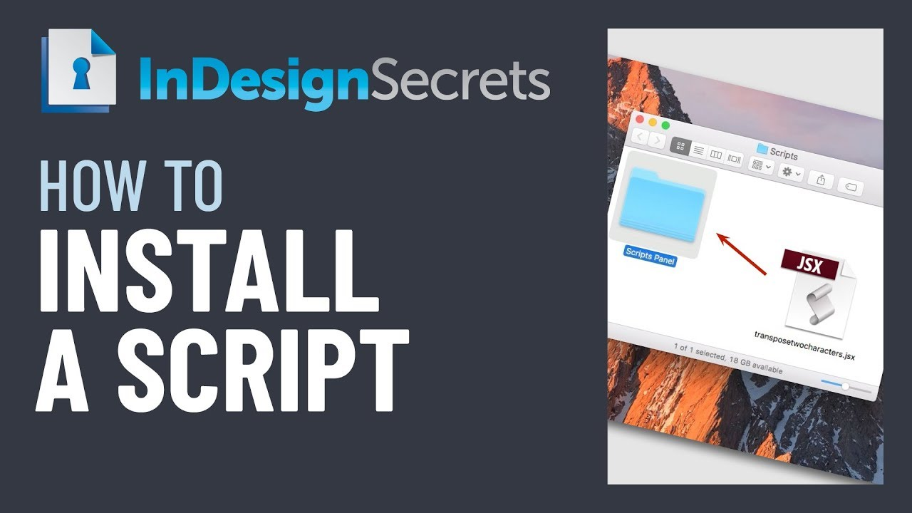 InDesign How-To: Install a Script (Video Tutorial)
