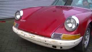 Porsche 912 1969 runs and drives needs restoration -VIDEO- www.ERclassics.com