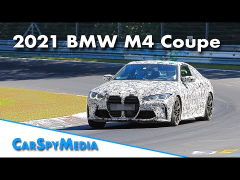 2021 BMW M4 Coupe spied less disguised on the Nürburgring