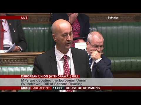 Geraint Davies speaking in the European Union (withdrawal) Bill debate 11/09/17