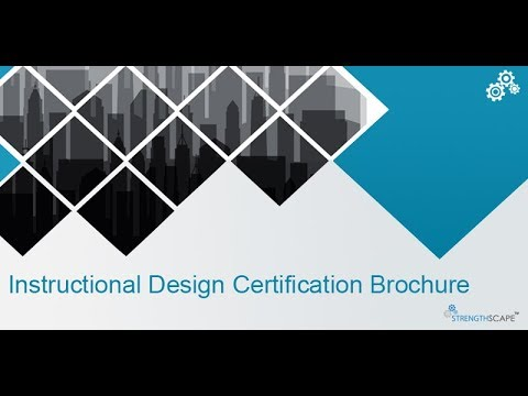 Instructional Design Certification By Contentiscape Youtube
